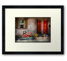 Bike - Welcome, doors open  Framed Print
