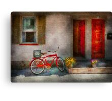 Bike - Welcome, doors open  Canvas Print