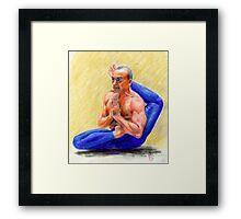 Lino Miele-Viranchyasana A Framed Print