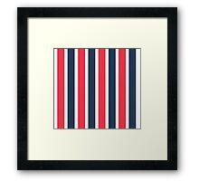 Bowie Stripe pants Framed Print