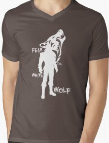 Witcher - Fear The White Wolf Mens V-Neck T-Shirt
