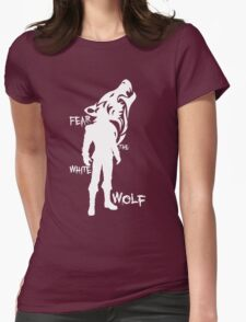 Witcher - Fear The White Wolf Womens Fitted T-Shirt