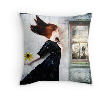 Cold winds are blowing... Throw Pillow