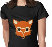 Fox illustration Womens Fitted T-Shirt