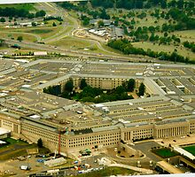 Up in the air over the Pentagon  by sperosphoto