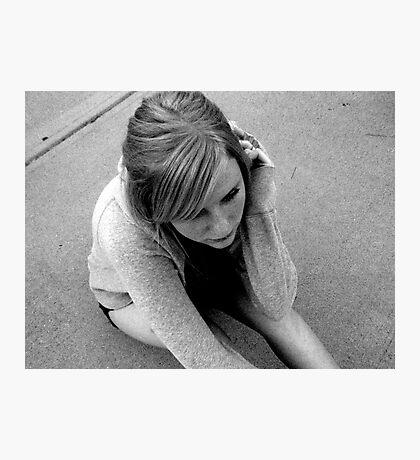unhappy Photographic Print