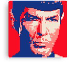 Pixel-ated 8-bit Star Trek Spock Pink/Blue Canvas Print