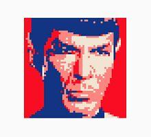 Pixel-ated 8-bit Star Trek Spock Pink/Blue T-Shirt