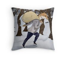 Winter Thief Throw Pillow