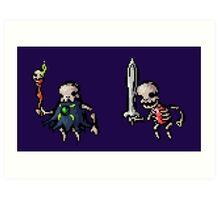 Spooky Skeletons Art Print