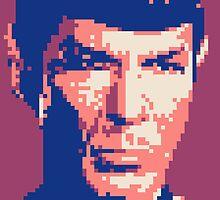 Pixel-ated 8-bit Star Trek Spock Purple/Blue by miffed