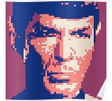 Pixel-ated 8-bit Star Trek Spock Purple/Blue Poster
