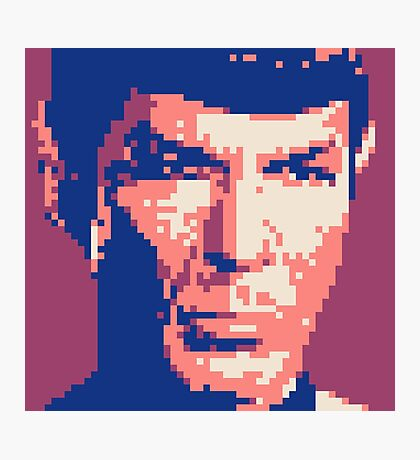 Pixel-ated 8-bit Star Trek Spock Purple/Blue Photographic Print