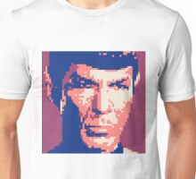 Pixel-ated 8-bit Star Trek Spock Purple/Blue Unisex T-Shirt