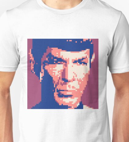 Pixel-ated 8-bit Star Trek Spock Purple/Blue Unisex T-Shirt