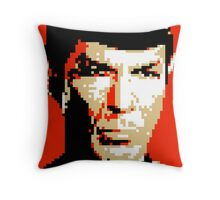 Pixel-ated 8-bit Star Trek Spock Throw Pillow