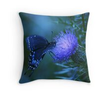 Midnight Wings Throw Pillow