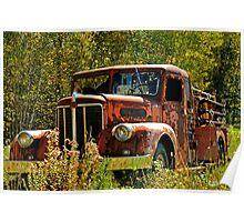 Rusty Fire Truck Poster