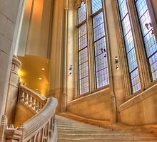 Stairs to Suzzallo Library, University of Washington by Barb White