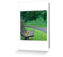 Empty Seat At Dusk Greeting Card