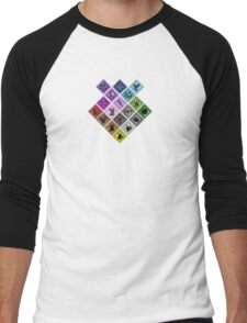 Pokemon Types Men's Baseball ¾ T-Shirt