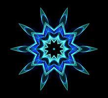 Blue Flame Kaleidoscope 01 by fantasytripp
