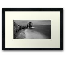 Portland Bill Seascapes in Black and white Framed Print