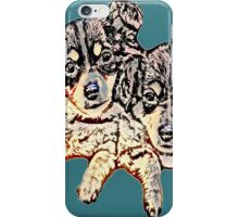 Two Pups #1 iPhone Case/Skin