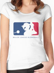 Major League Blernsball (White) Women's Fitted Scoop T-Shirt