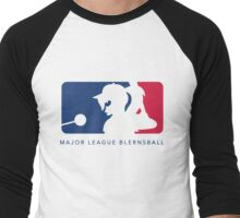 Major League Blernsball (White) Men's Baseball ¾ T-Shirt