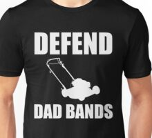 Defend Dad Bands - White Unisex T-Shirt