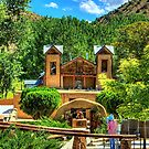 Artist painting at Santuario de Chimayó Church in New Mexico by K D Graves Photography