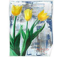 Yellow Tulips - Original Artwork Poster