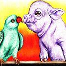 Pig 'n' Parrot by Margaret Sanderson