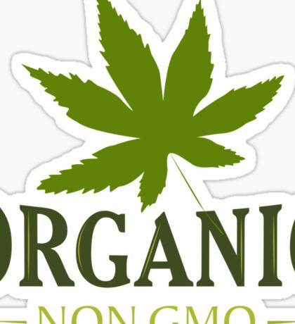 Marijuana Organic Non GMO Sticker