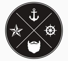 Bearded Sailor Seal One Piece - Long Sleeve