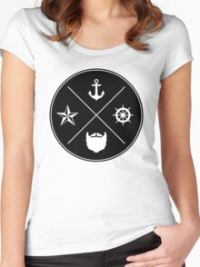 Bearded Sailor Seal Women's Fitted Scoop T-Shirt