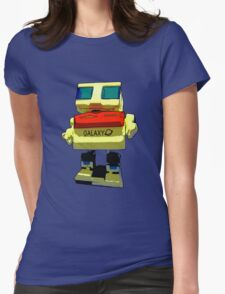 Dancing Robot Womens Fitted T-Shirt