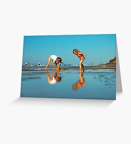 SISTERS PLAYING Greeting Card