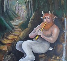 Satyr start of day two (unfinished) by Ken Tregoning