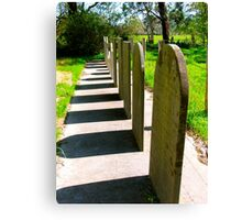 Tomb in a row.... Canvas Print