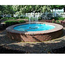 Fountain- Prescott Park Photographic Print