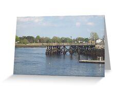 Dock- Prescott Park Greeting Card