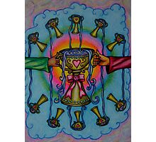 Ten of Cups Tarot Pink for Cancer Photographic Print