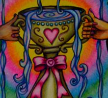 Ten of Cups Tarot Pink for Cancer Sticker