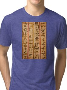Egypt hieroglyphs, grunge seamless pattern Tri-blend T-Shirt