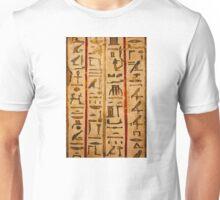 Egypt hieroglyphs, grunge seamless pattern Unisex T-Shirt