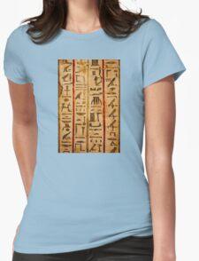 Egypt hieroglyphs, grunge seamless pattern Womens Fitted T-Shirt