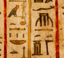 Egypt hieroglyphs, grunge seamless pattern Sticker