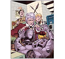 Third Doctor and the Cyberman Photographic Print
